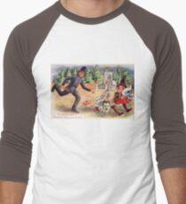 Young Graverobbers  (Vintage Halloween Card) Men's Baseball ¾ T-Shirt