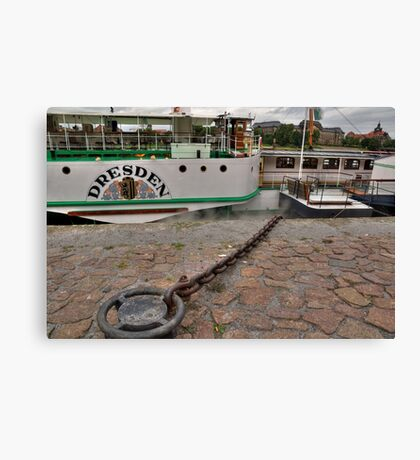 PD-Dresden  steam powered Riverboat Canvas Print