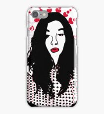 Girl with Hearts iPhone Case/Skin