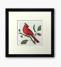 an american red cardinal Framed Print