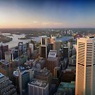Sunset over Sydney Harbour by groophics