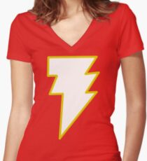 Magic Lightning Man Women's Fitted V-Neck T-Shirt