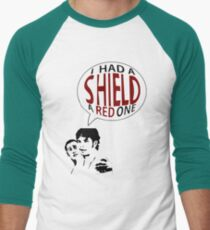 Hal had a shield! A red one! Men's Baseball ¾ T-Shirt