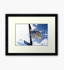 Flag Of Honor  Framed Print