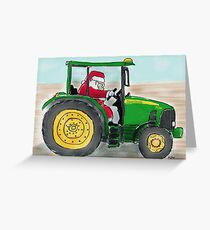 Deere Santa Greeting Card