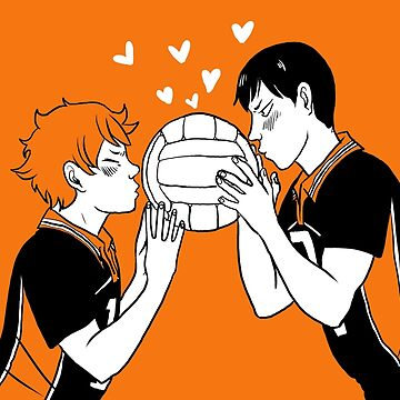 Volleyball Kiss KageHina by dr-kara