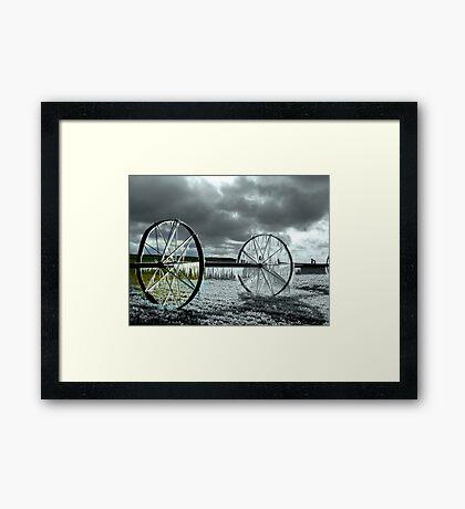 Focal Black and White *ICE WHEEL*~! Framed Print
