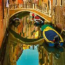 The Quit Canal of Venice, Italy by Daniel H Chui