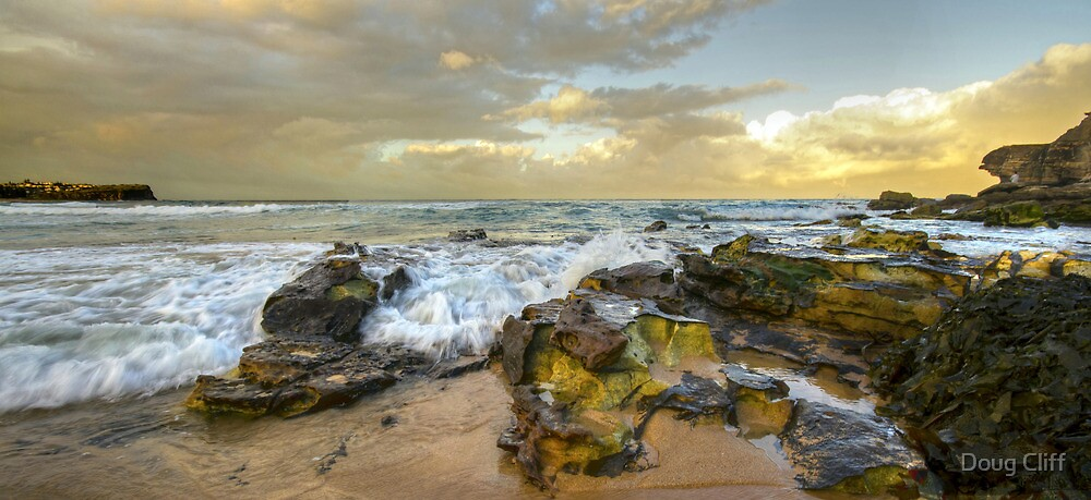 Dusk at Warriewood beach by Doug Cliff