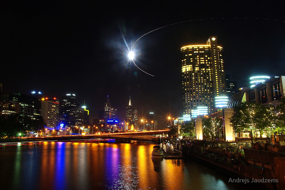 Melbourne's Yarra River on New Year's Eve by Andrejs Jaudzems