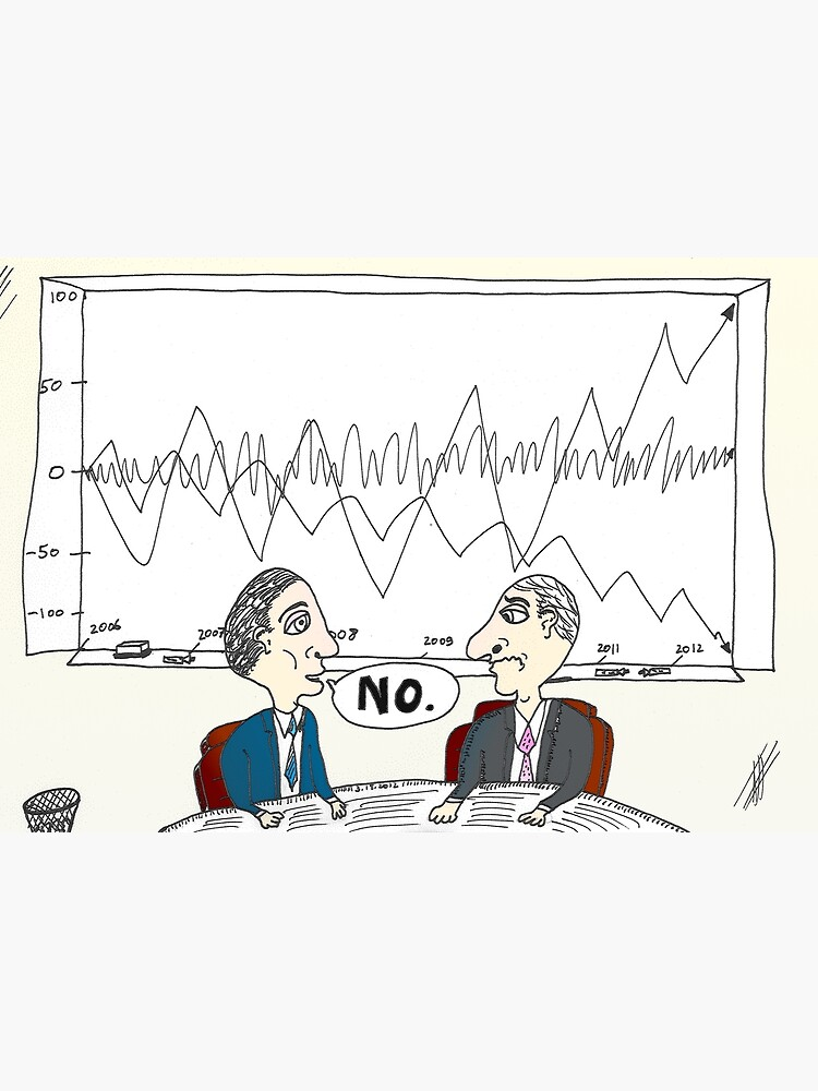 Binary Options News Cartoon Chart Forecast No | Canvas Print
