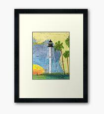 Cape San Blas Lighthouse FL Nautical Map Peek Framed Print