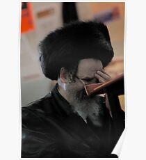 Praying in the Ohel of Rabbi Elimelech. Jorcait .  Poster