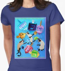 Delightful Dreidels Poster Womens Fitted T-Shirt