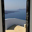 Doorway to Heaven - Santorini Greece by mikequigley