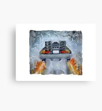 Back To The Future - OUTATIME Canvas Print