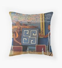 His Holiness and me... Throw Pillow