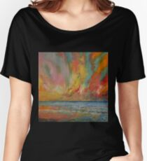 Hidden Heart Lava Sky Women's Relaxed Fit T-Shirt