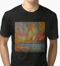 Hidden Heart Lava Sky Tri-blend T-Shirt