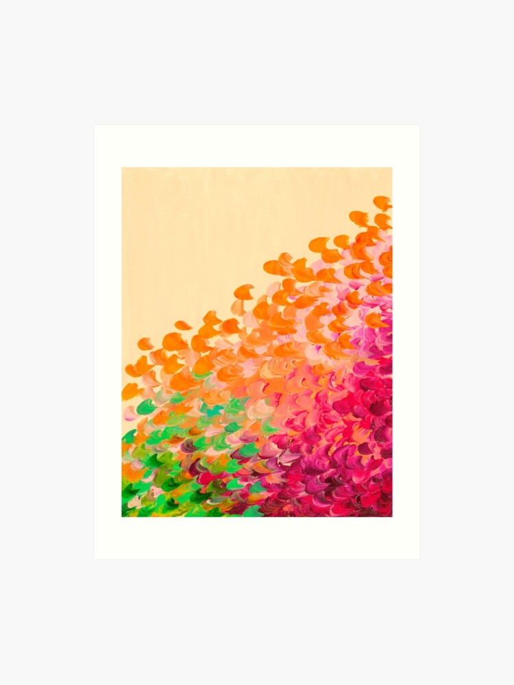 Creation In Color Autumn Infusion Colorful Abstract Acrylic Painting Fall Splash Ombre Ocean Waves Fine Art Art Print