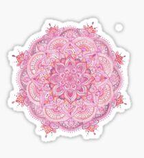 Watercolour Mandala Pink Sticker