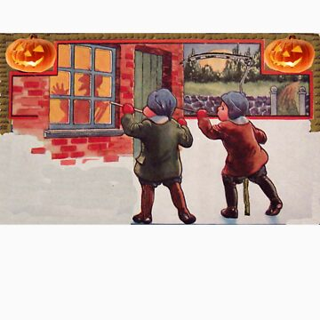 Young Killers  (Vintage Halloween Card) by jibbsmerch