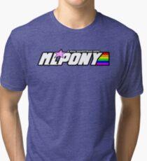 "M.L. Pony - A Real Equestrian Hero - ""brand new"" version Tri-blend T-Shirt"