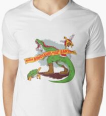 When dinosaurs ruled the earth  Mens V-Neck T-Shirt