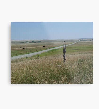 LITTLE PUMP ON THE PRAIRIE Metal Print