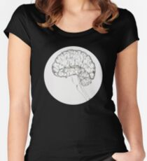 Anatomical No-Body, Brain Women's Fitted Scoop T-Shirt