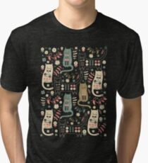 Camiseta de tejido mixto Cat Folk