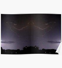 Lightning Art 50 Poster