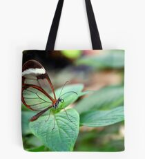 Glasswing on Leaf - Greta oto Tote Bag