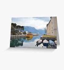 Ancorata a Riva del Garda Greeting Card