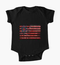 American Flag Stars and Stripes One Piece - Short Sleeve