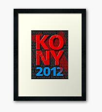 KONY 2012 Framed Print