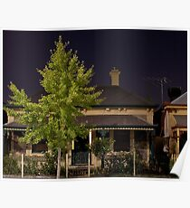 Gilles Street with Ginkgo Tree Poster