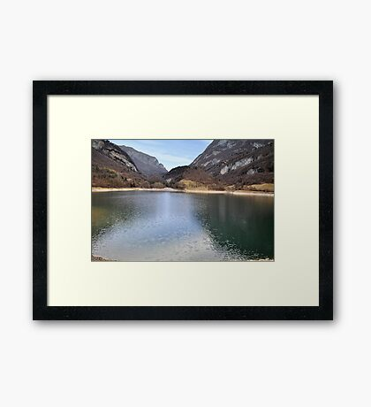 Lake Tenno, Italy Framed Print