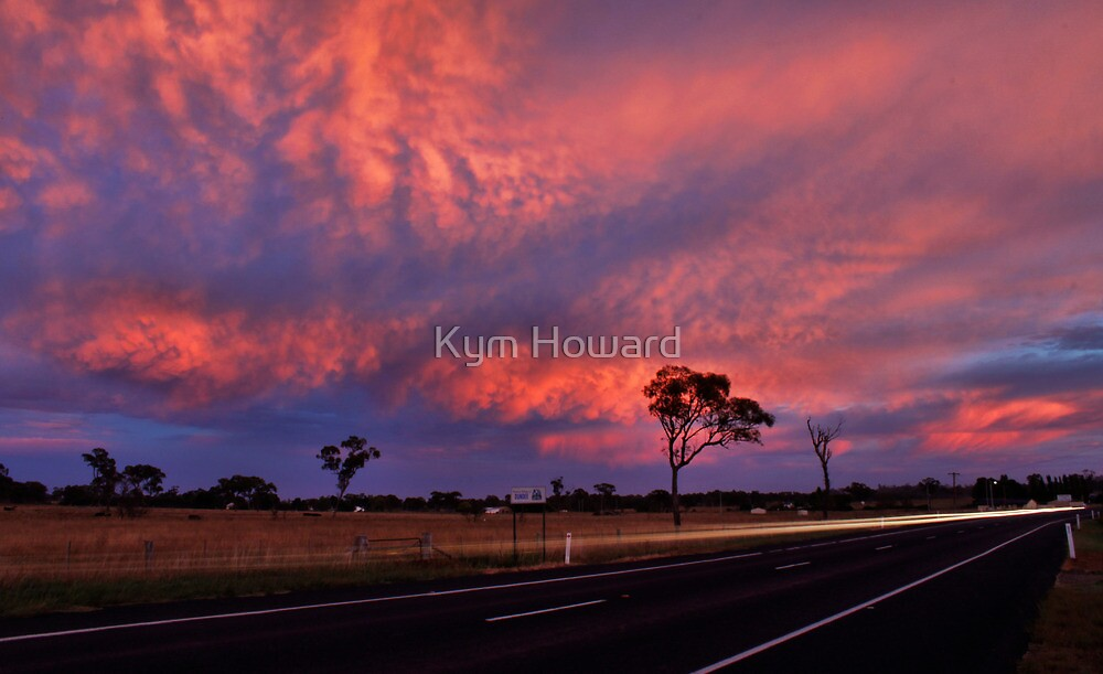 Highway Sunrise by Kym Howard