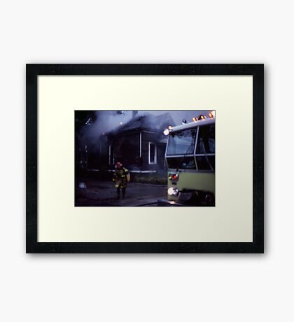 Fire in Detroit 1978 Framed Print