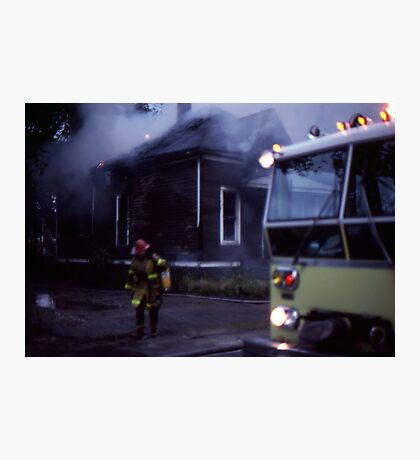 Fire in Detroit 1978 Photographic Print