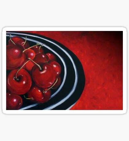 Cherries on Your Plate Sticker