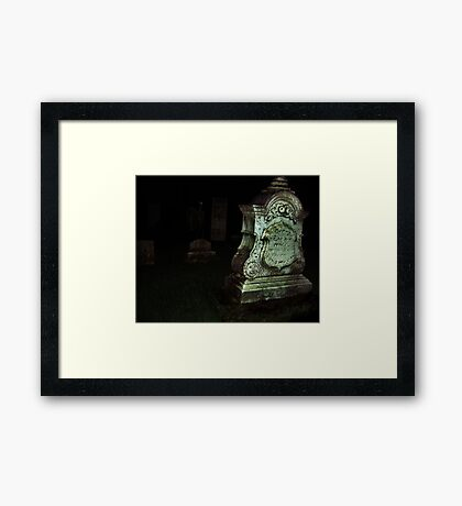 Ghost in the Cemetery Framed Print