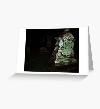 Ghost in the Cemetery Greeting Card