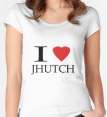 I (heart) Jhutch Women's Fitted Scoop T-Shirt
