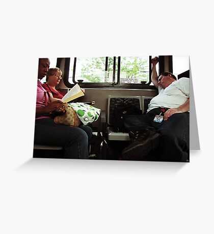 Another Day on the bus Greeting Card