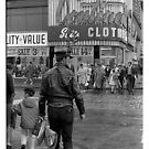Leathers on Young Street 1969 by Lionel Douglas