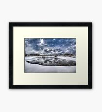 White Bright Framed Print