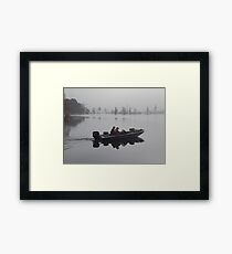 Off to the Bass Bed Framed Print