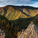 Chimney Tops Panorama – Great Smoky Mountains National Park, Tennessee by Jason Heritage